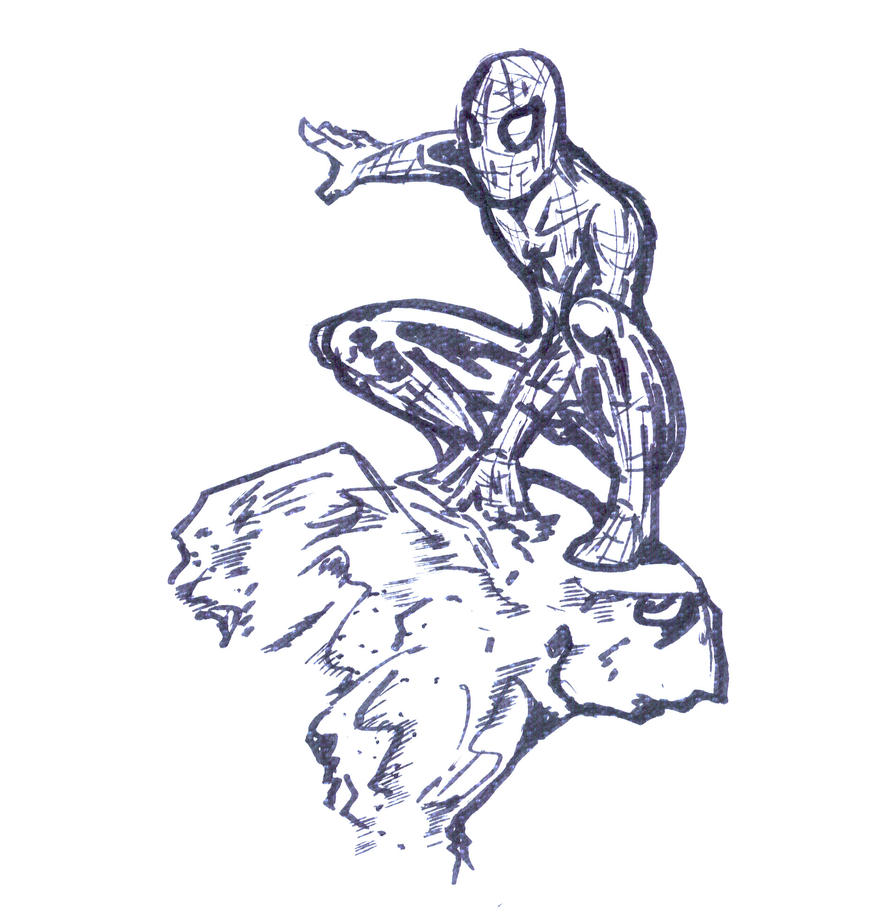 napkin spiderman by Mark-Clark-II