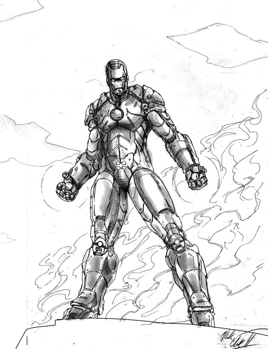 Black Man Ironing Iron Man Black And White