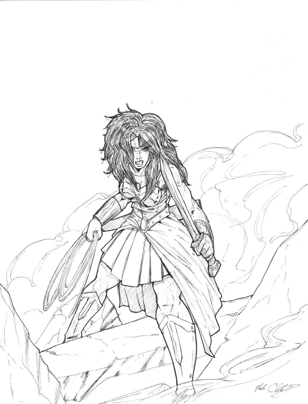 Wonder Woman- INk by Mark-Clark-II