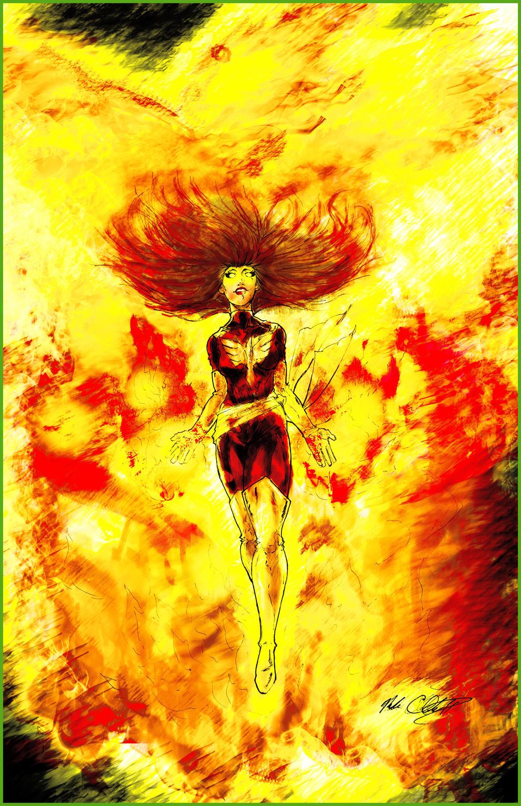 Dark phoenix by Mark-Clark-II