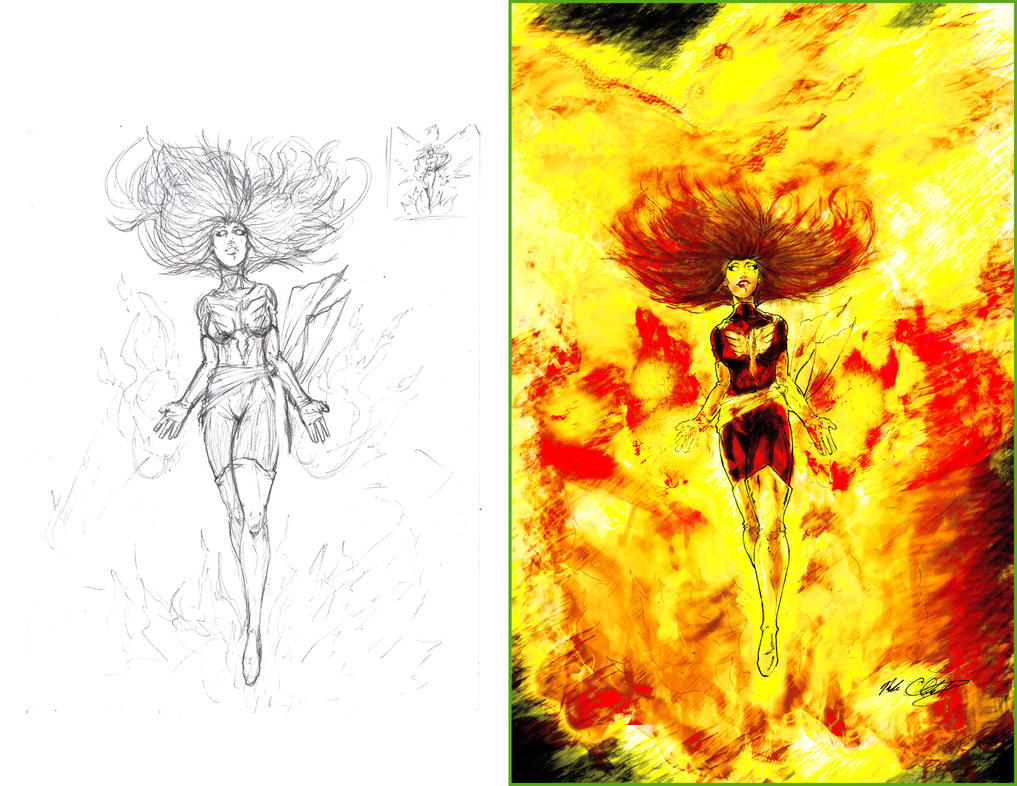 darkphoenix before and after by Mark-Clark-II