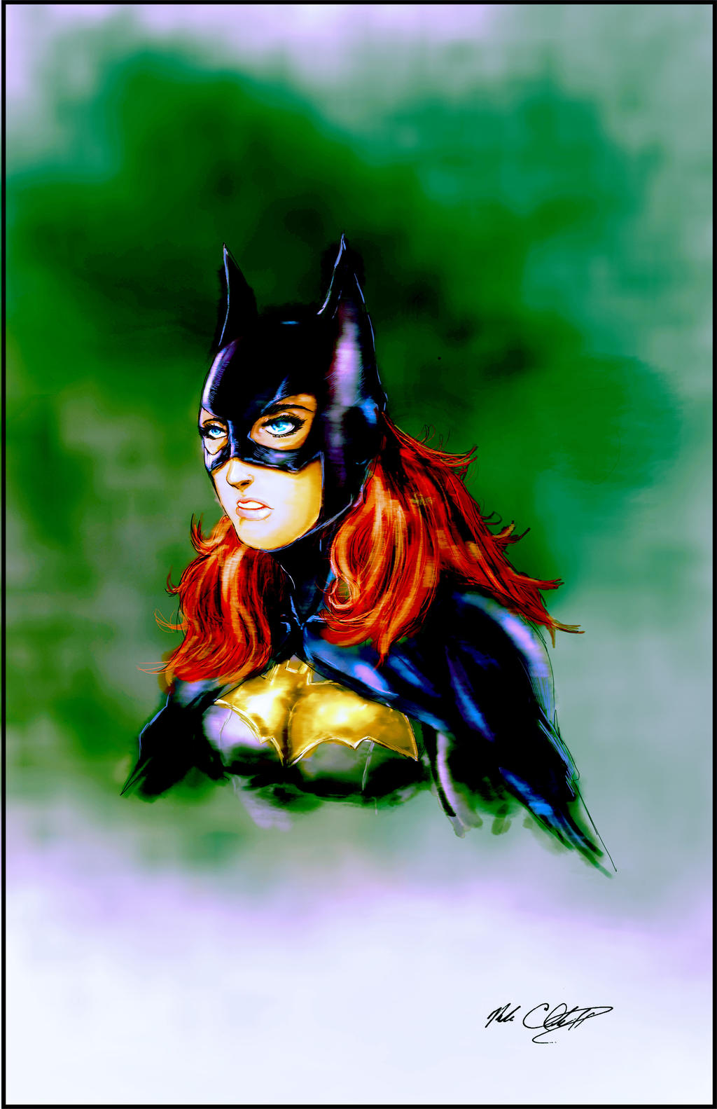 Batgirl painted by Mark-Clark-II