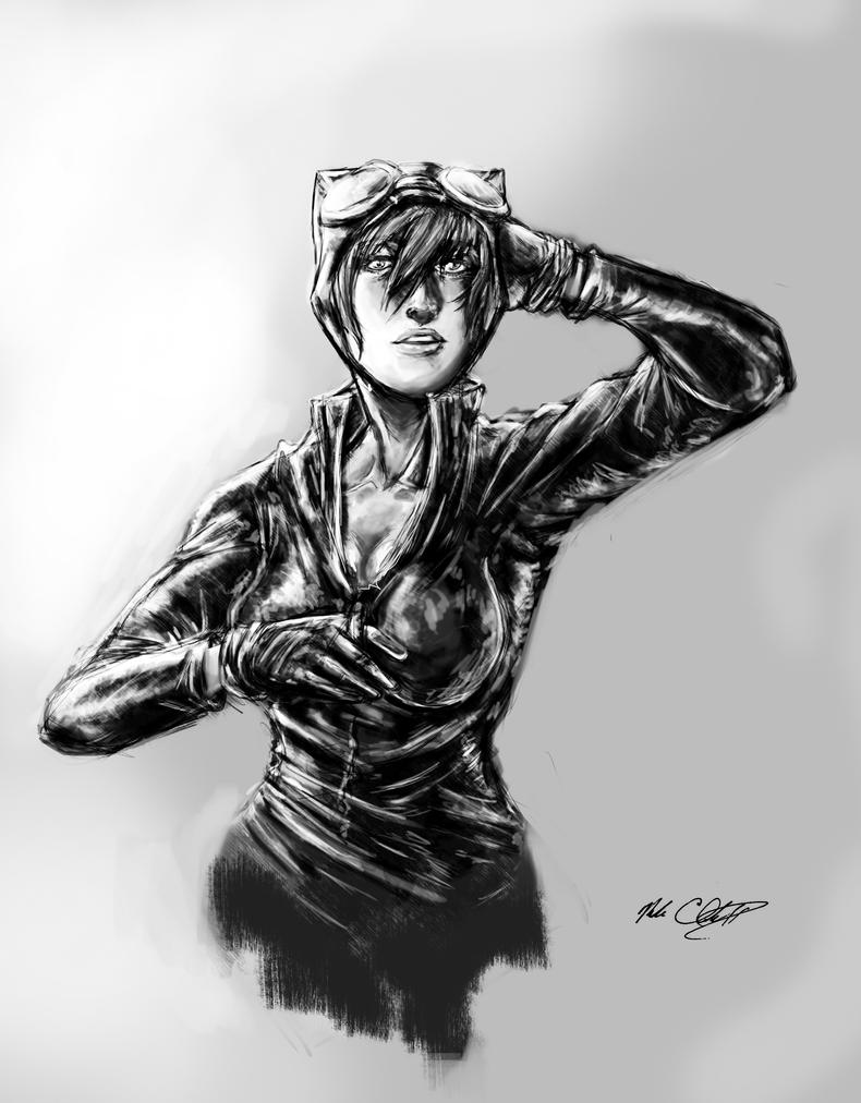 Catwoman-comission by Mark-Clark-II