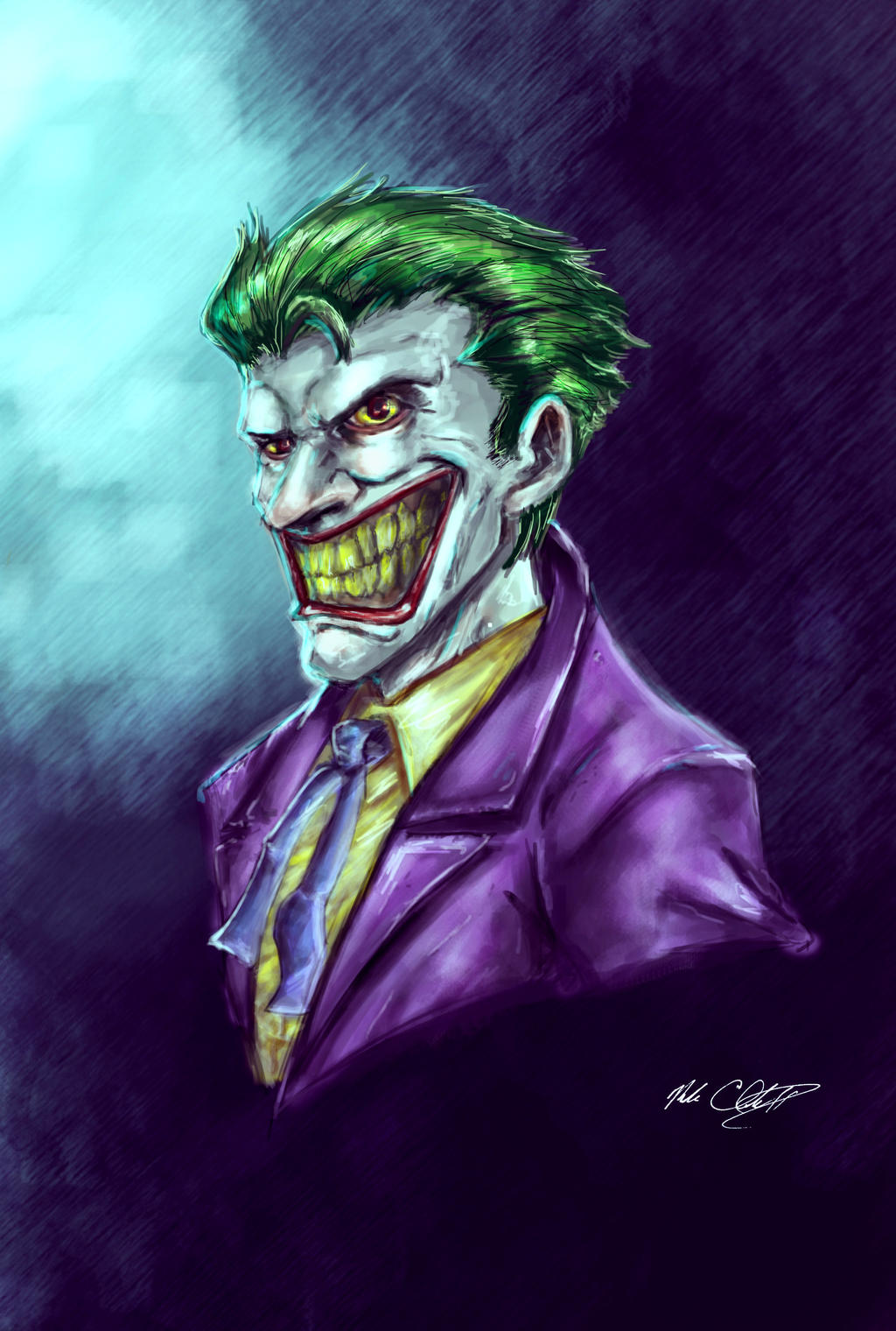 Joker painting by Mark-Clark-II