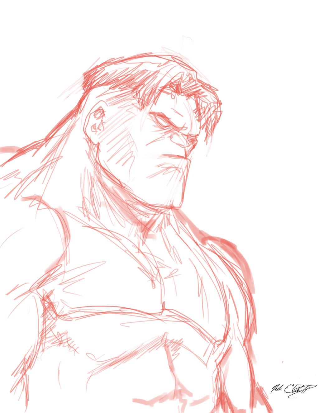 Sketch-hulk by Mark-Clark-II