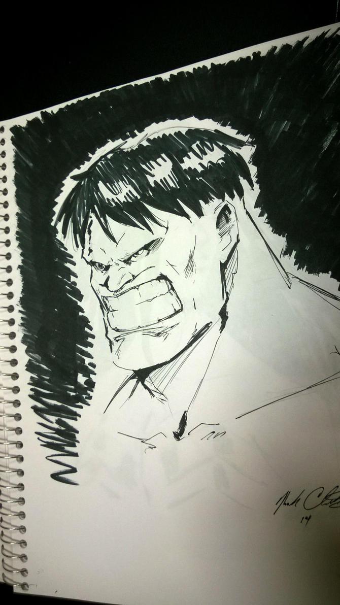 Hulk sketch in 6 min by Mark-Clark-II