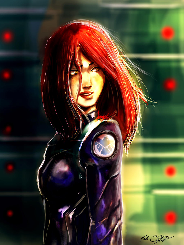 Black Widow's First Day by Mark-Clark-II