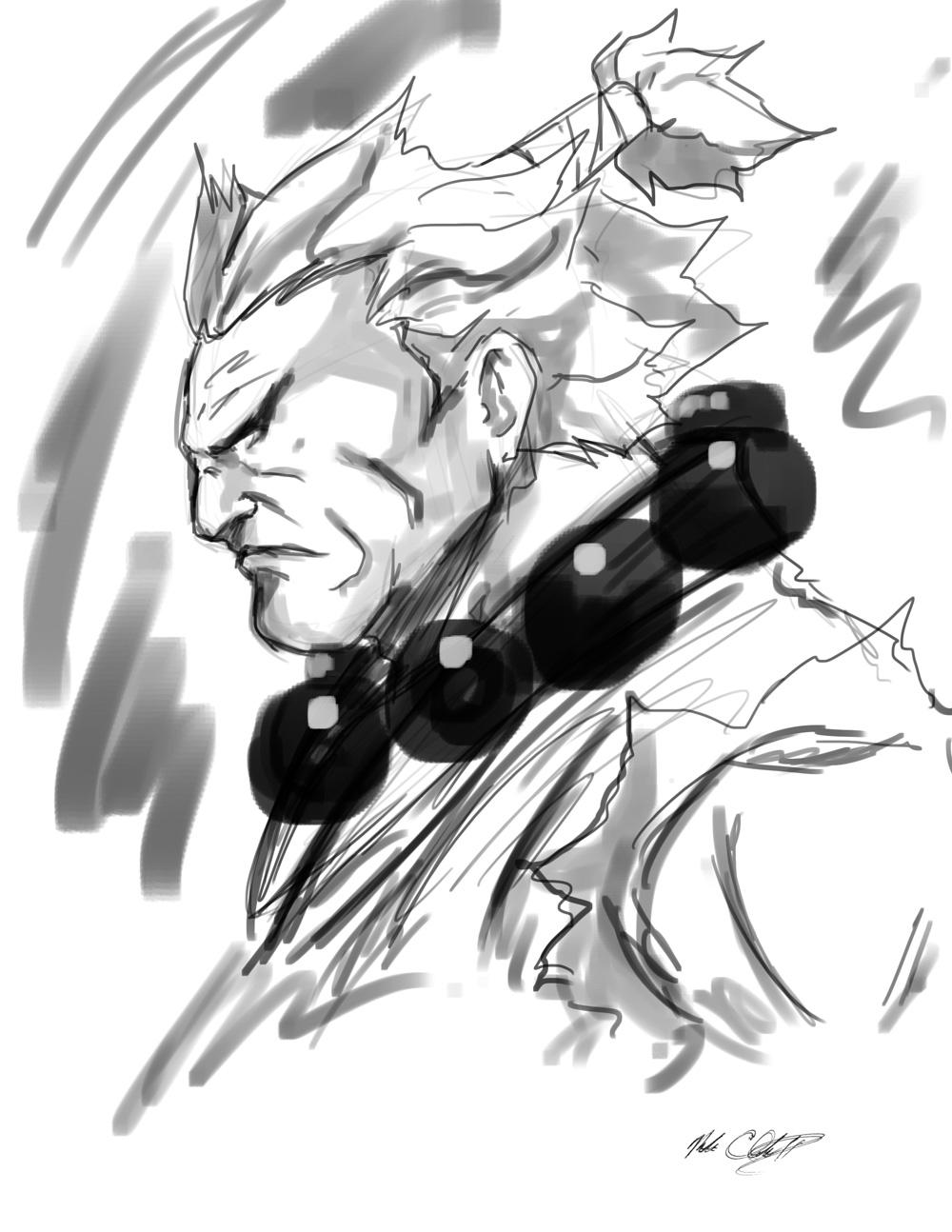 Akuma Sketch in 11 min by Mark-Clark-II