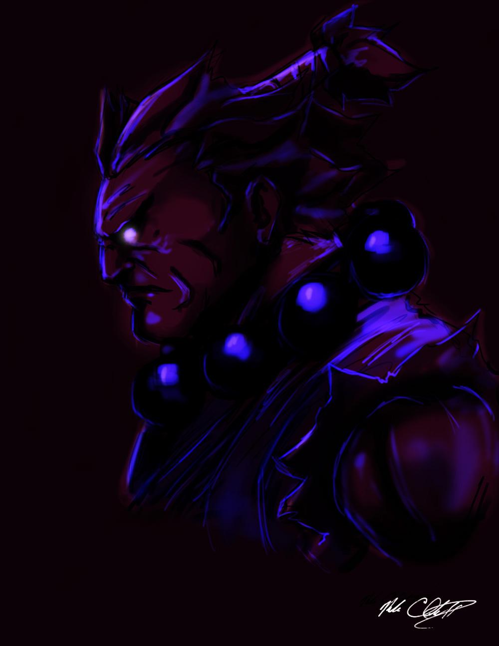 blacklight Akuma by Mark-Clark-II