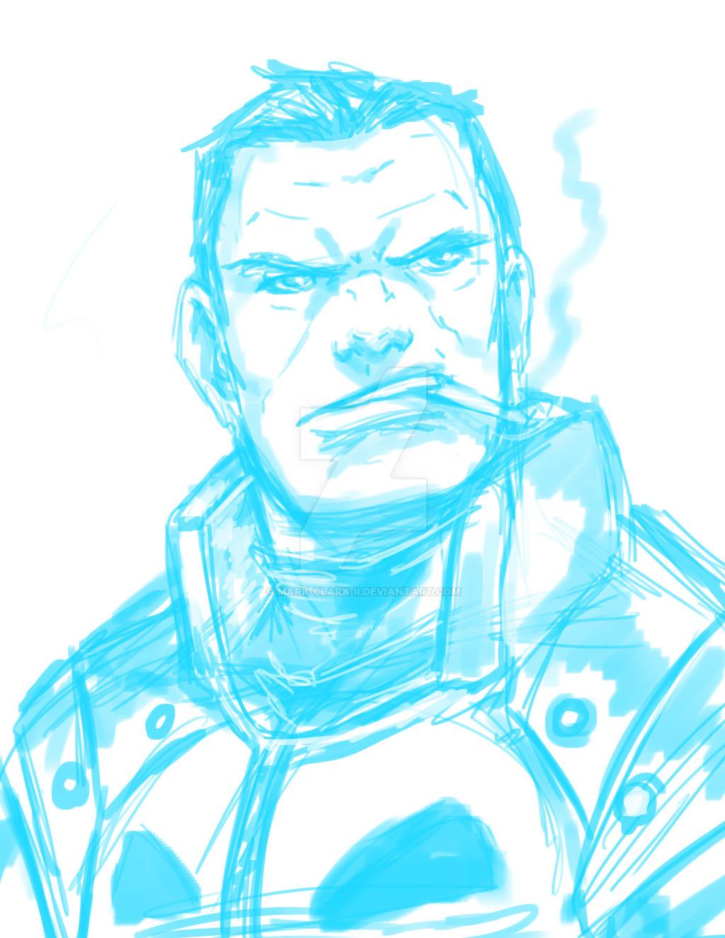 Punisher sketch by Mark-Clark-II