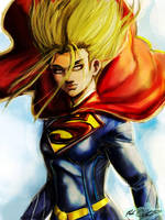 Supergirl by Mark-Clark-II