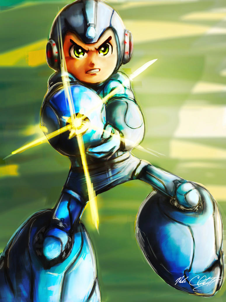 Mega Man by Mark-Clark-II