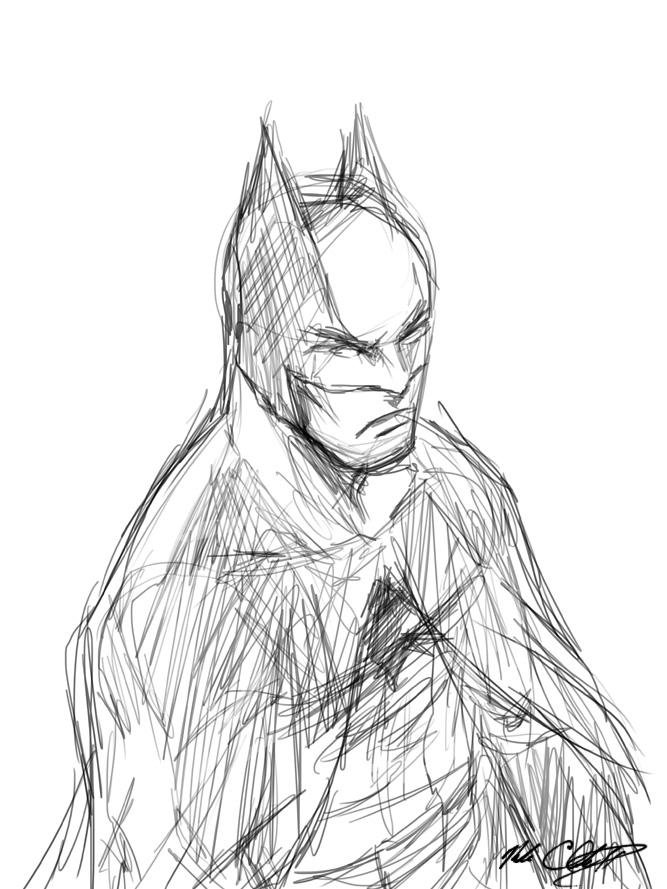 One Line Batman by Mark-Clark-II