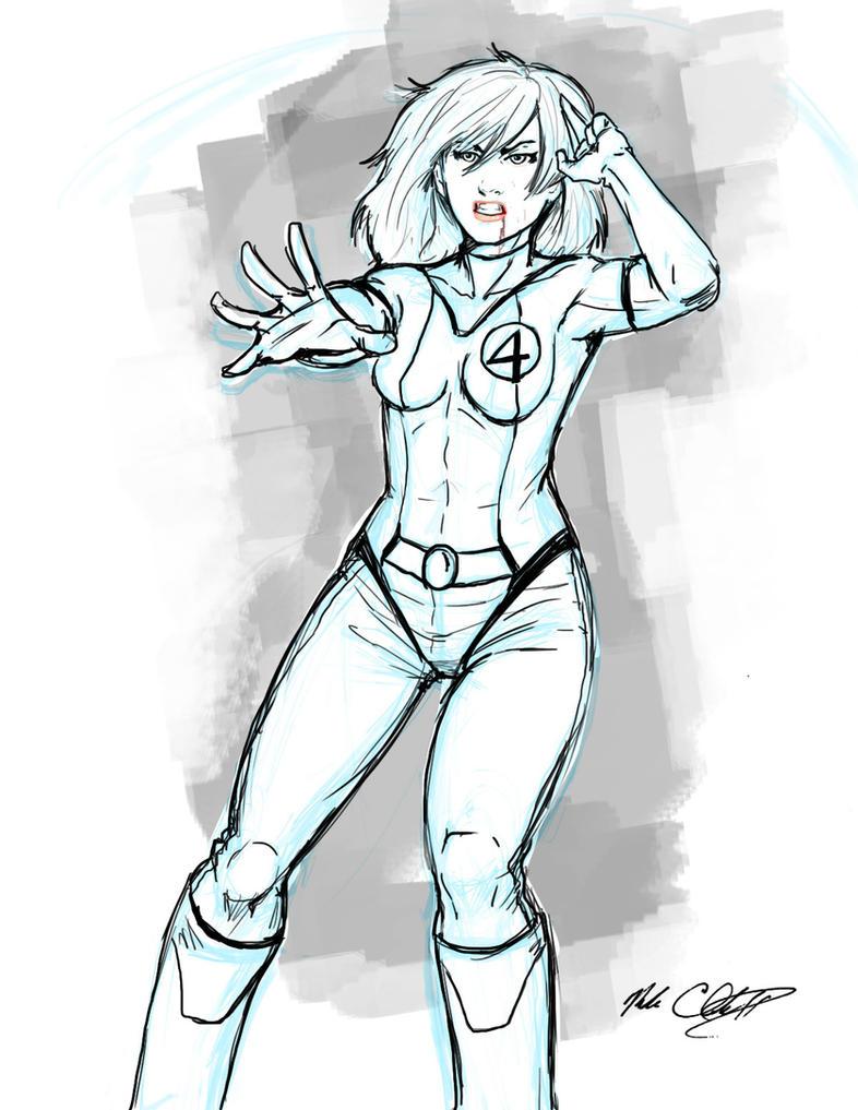 Sue Richards sketch by Mark-Clark-II