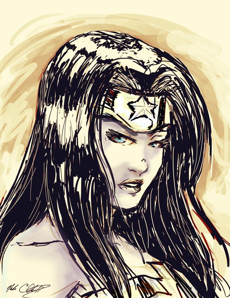 Wonder Woman warm up by Mark-Clark-II