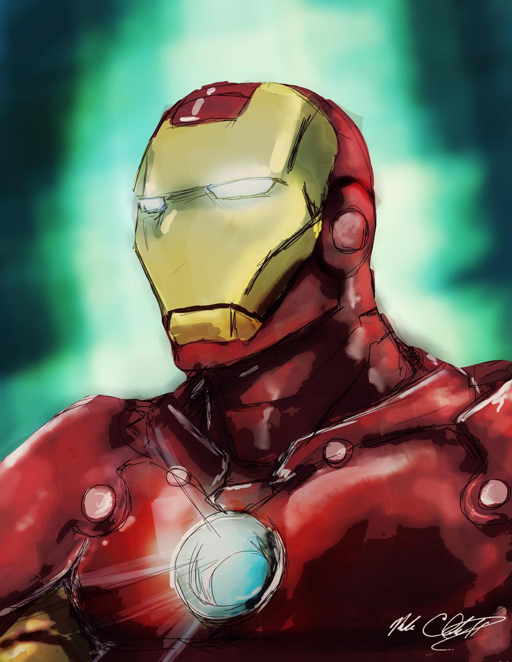 Iron man by Mark-Clark-II
