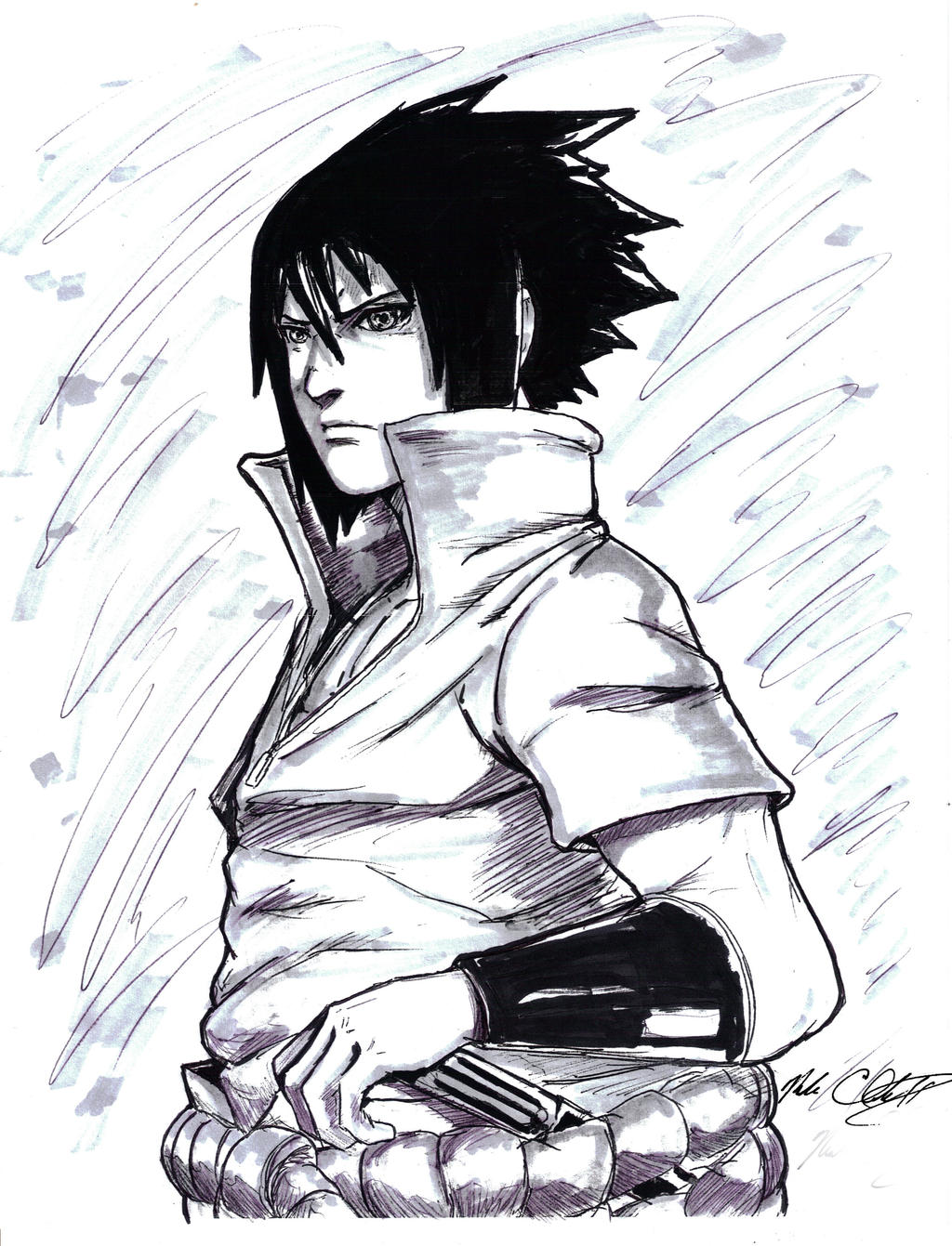 Uchiha Sasuke by Mark-Clark-II