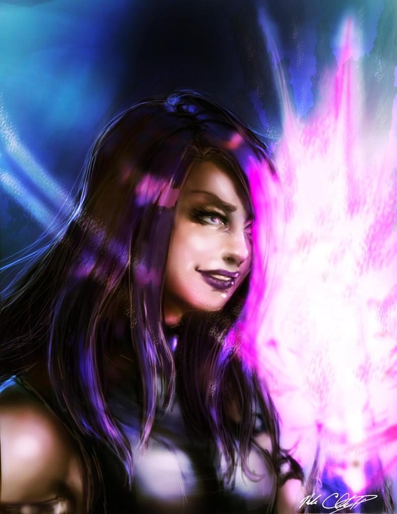 Psylocke by Mark-Clark-II