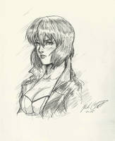 Major Kusanagi -sketch by Mark-Clark-II
