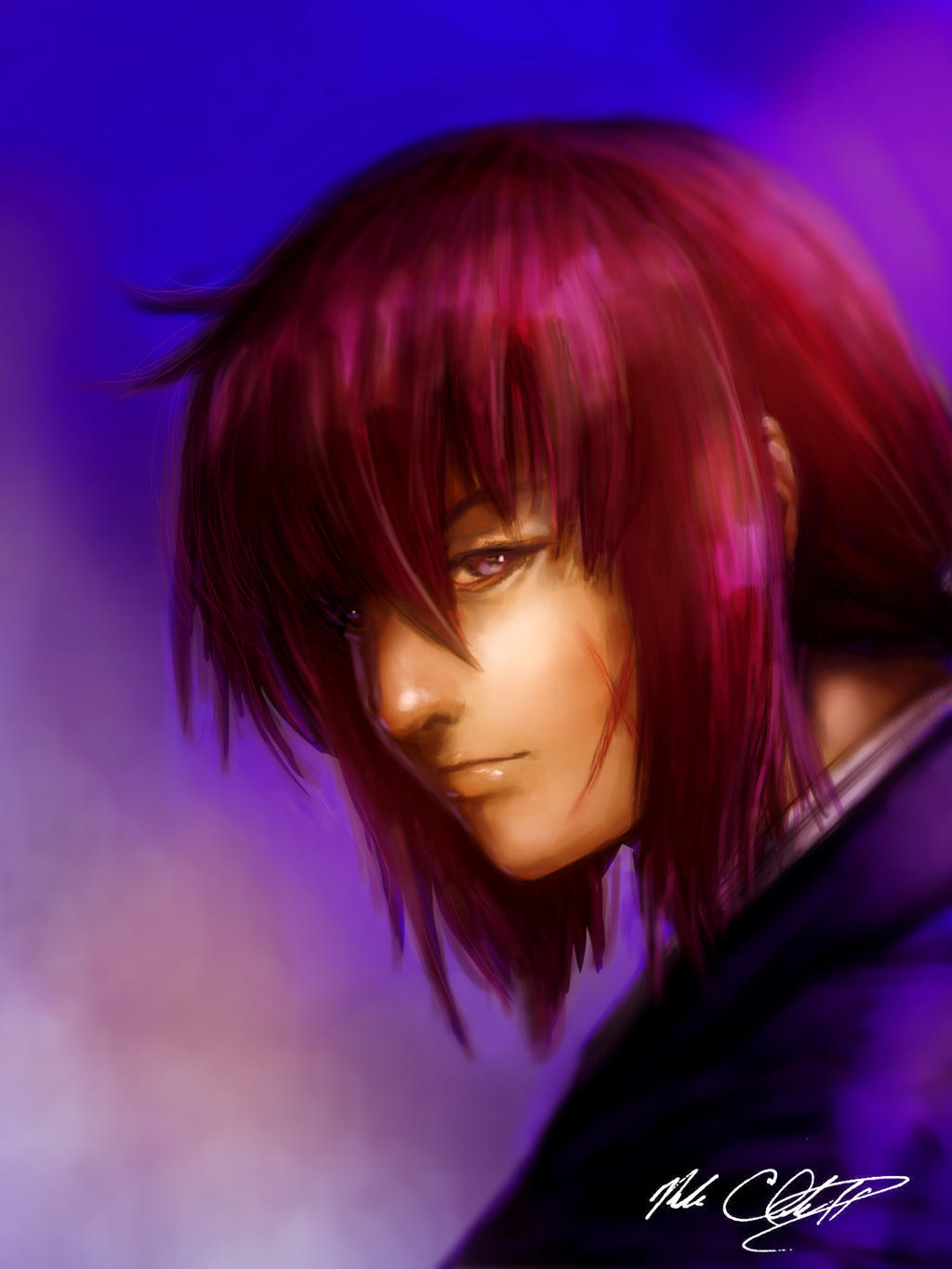 Kenshin painting by Mark-Clark-II