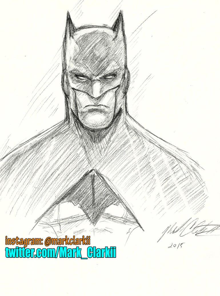 Batman sketch by Mark-Clark-II