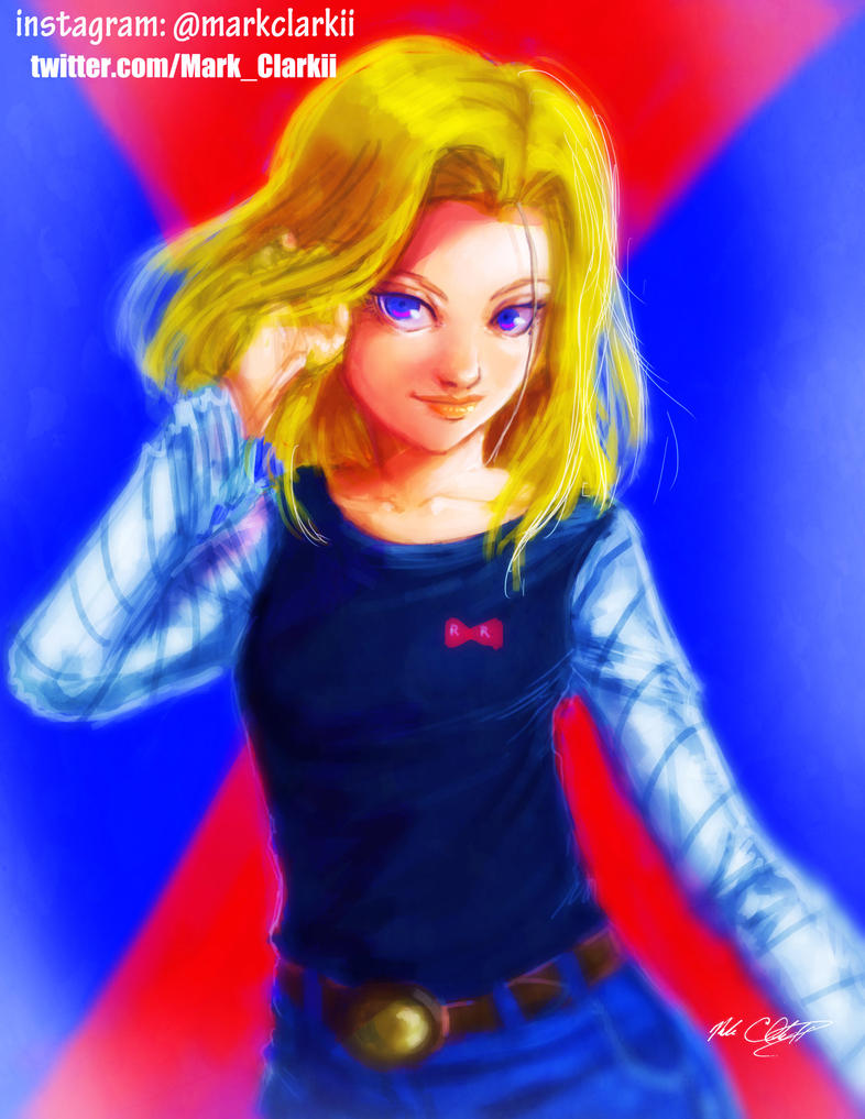 Android 18 by Mark-Clark-II