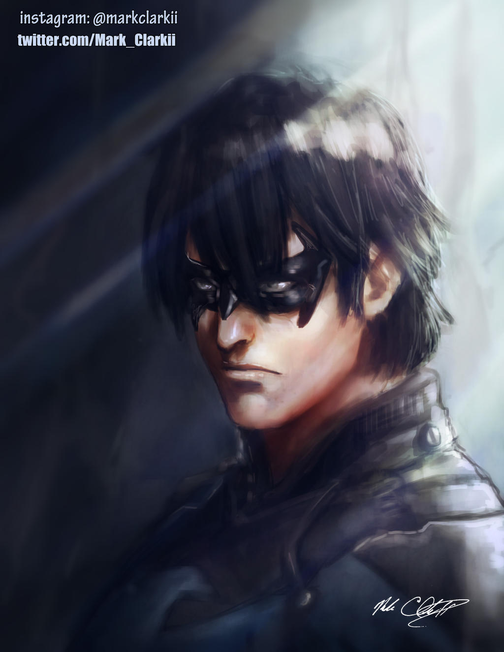 Nightwing Painting by Mark-Clark-II