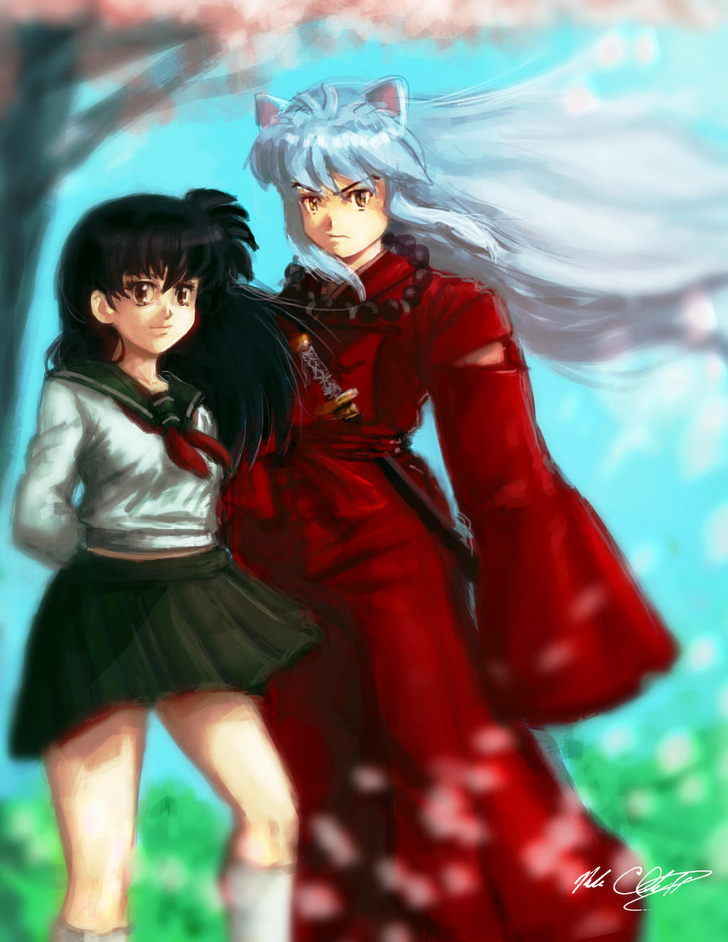Inuyasha and kagome by Mark-Clark-II