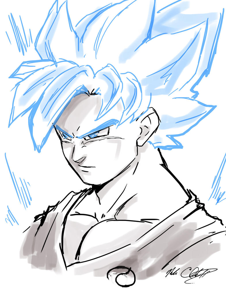 Super Saiyan God Goku plus video by Mark-Clark-II