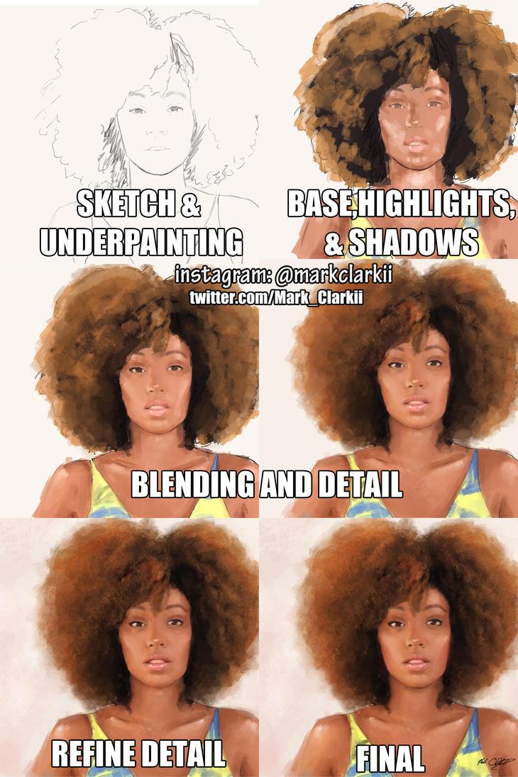 Shelah Marie portrait 3 process by Mark-Clark-II