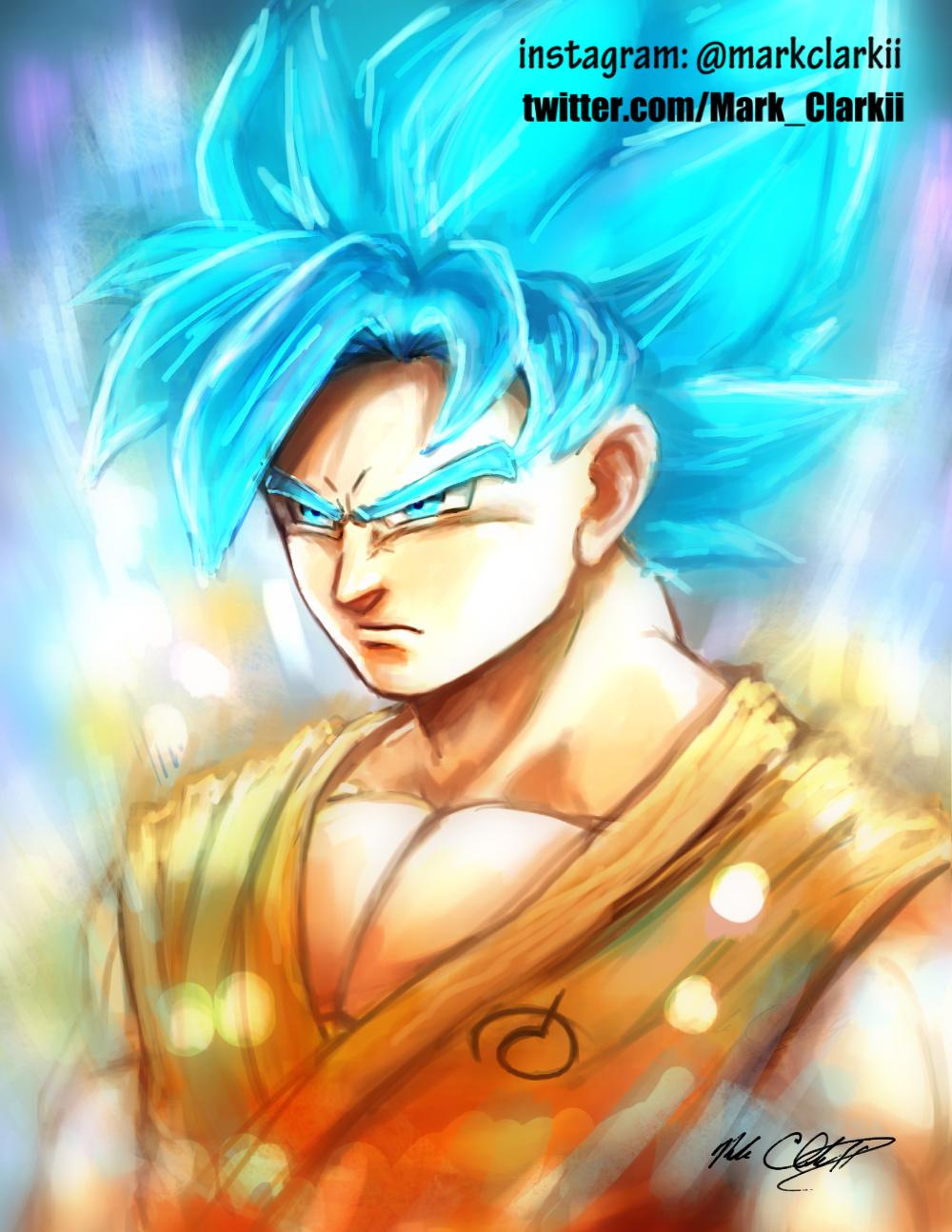 Super Saiyan God SSJ Goku-paint plus video by Mark-Clark-II