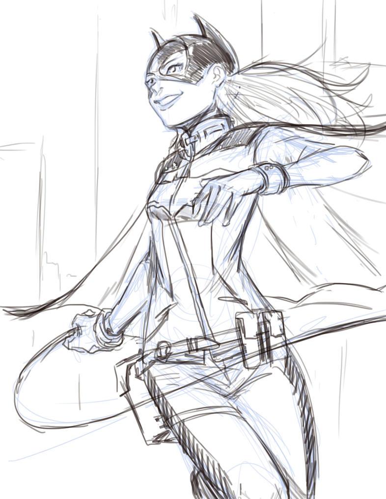 Batgirl on patrol by Mark-Clark-II