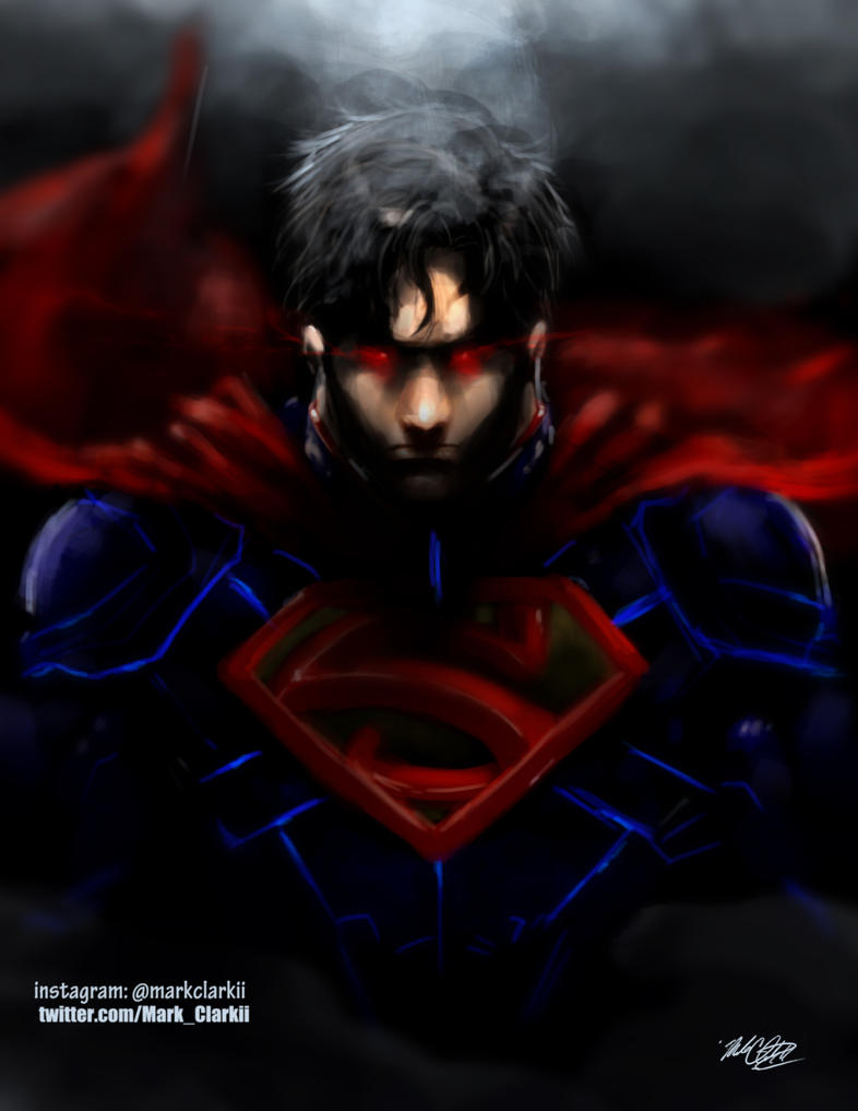 Superman painting by Mark-Clark-II