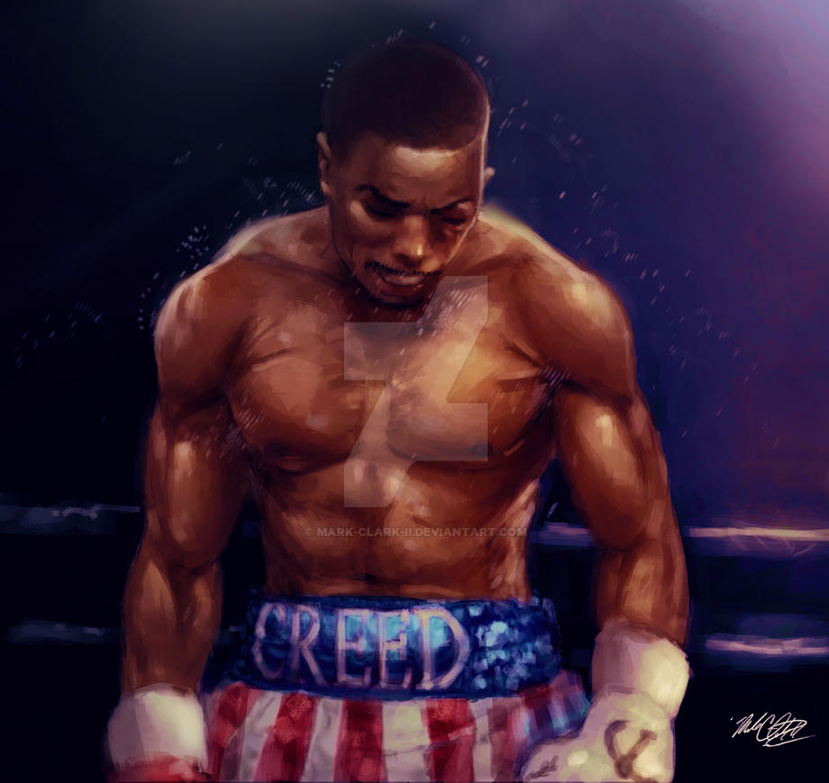 12 x 12 Creed painting by Mark-Clark-II