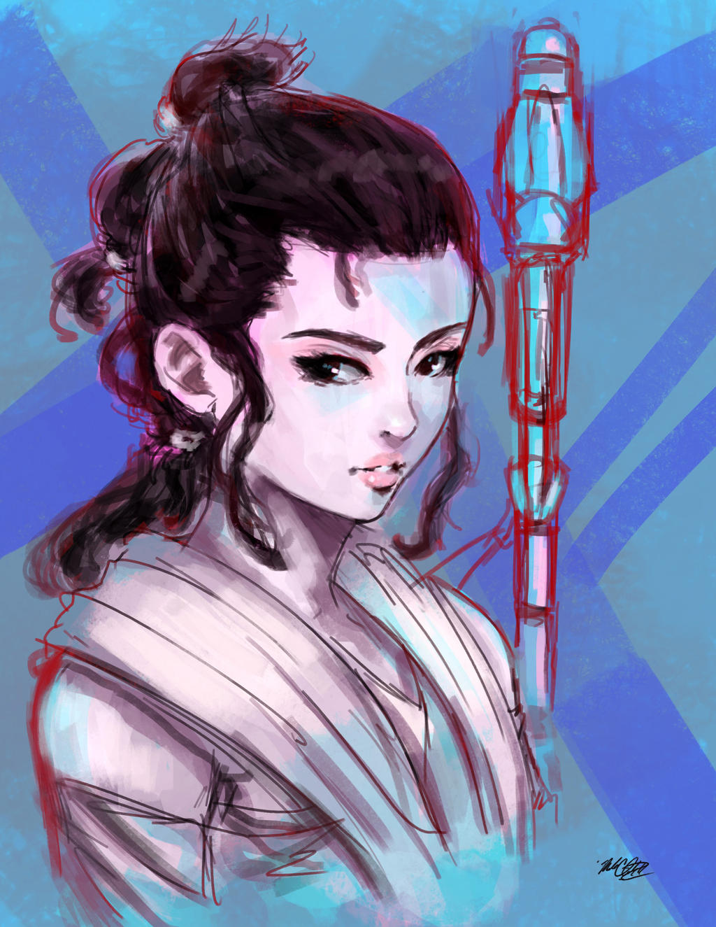 Rey  from force awakens by Mark-Clark-II