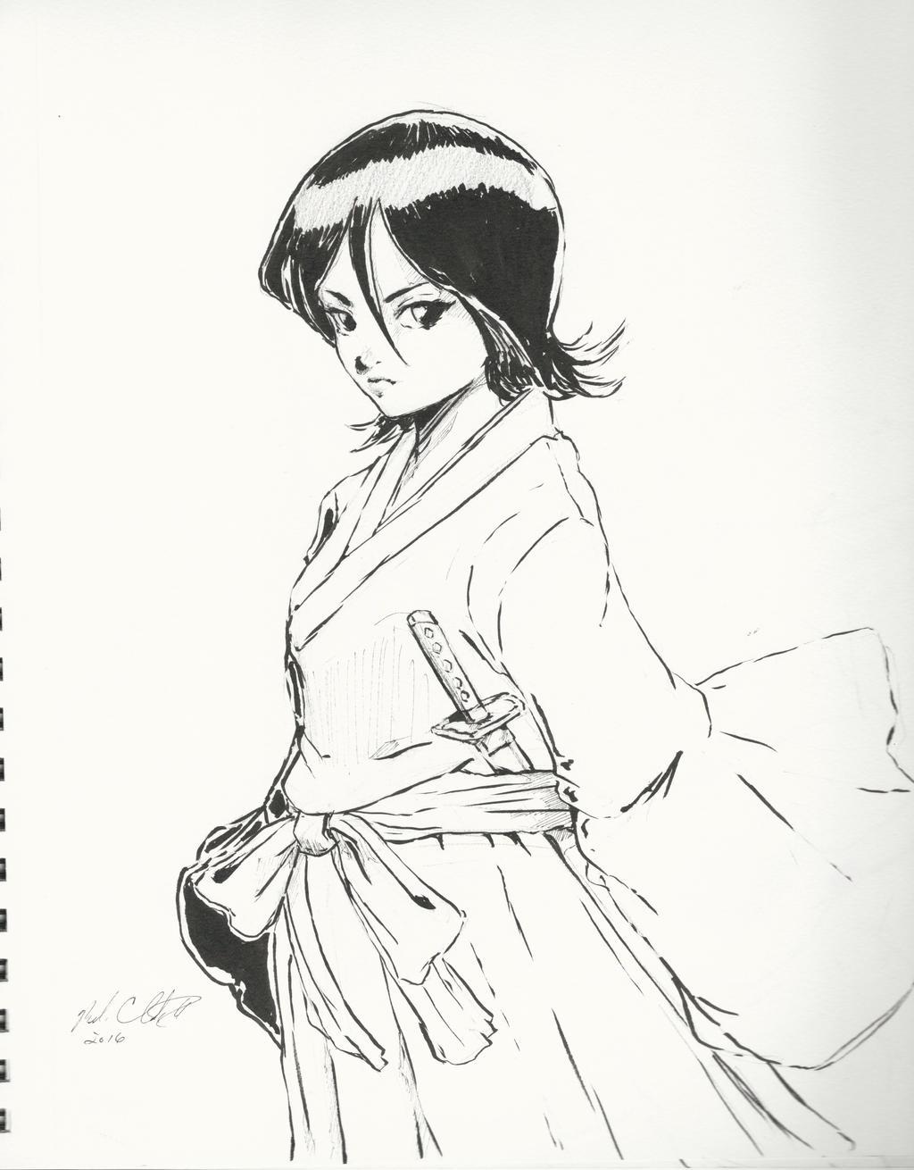 Sketchbook-Rukia by Mark-Clark-II
