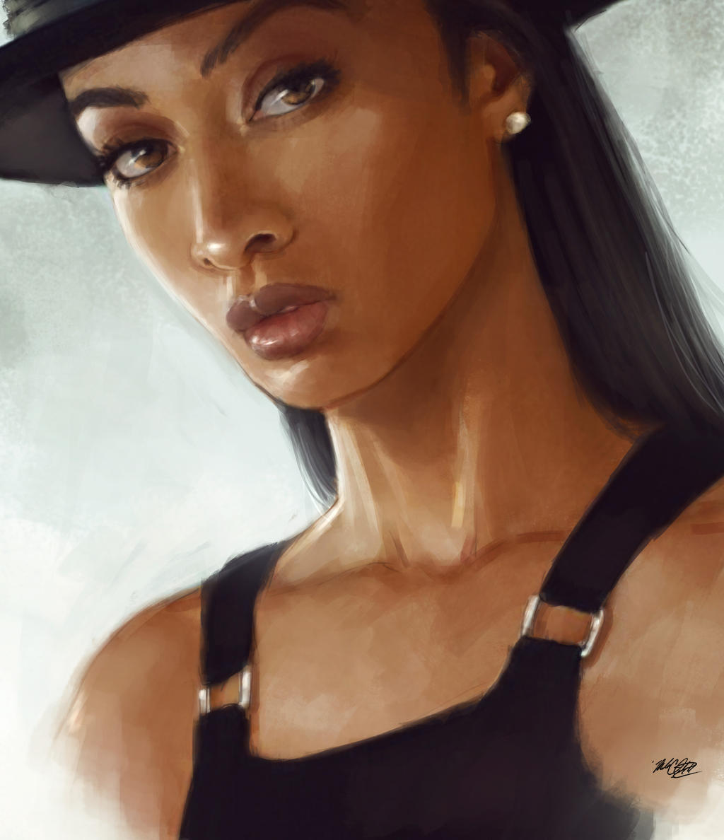 Black Hat Painting by Mark-Clark-II