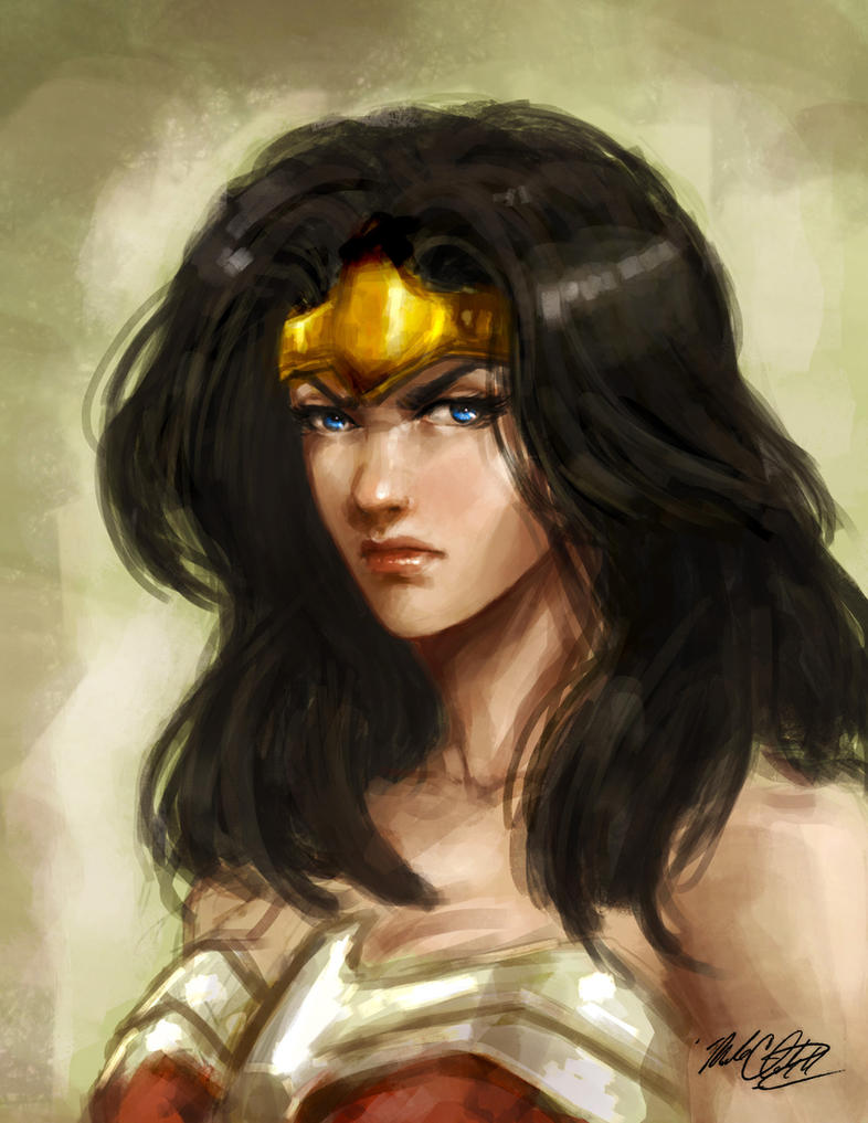 Wonder Woman painting by Mark-Clark-II