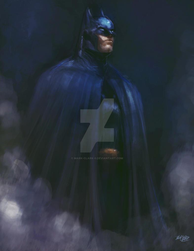 Batman painting plus video by Mark-Clark-II