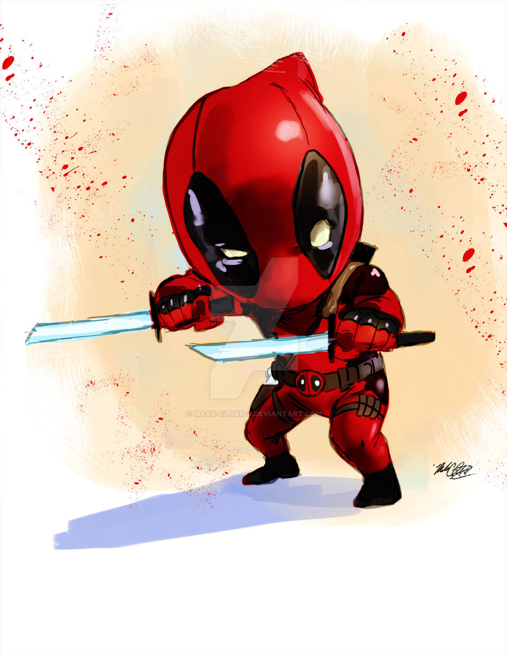 Deadpool chibi plus video by Mark-Clark-II