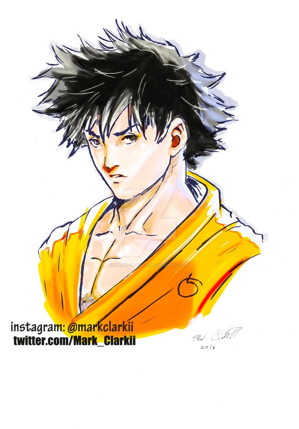 Goku mark style colored by Mark-Clark-II