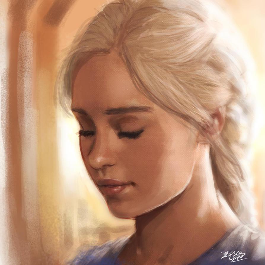 Daenerys Targaryen Stormborn by Mark-Clark-II