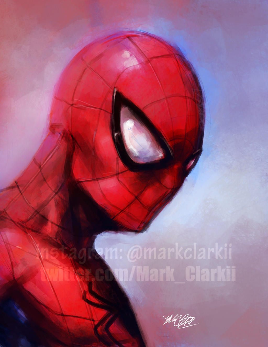 Spider-man painting plus Video by Mark-Clark-II