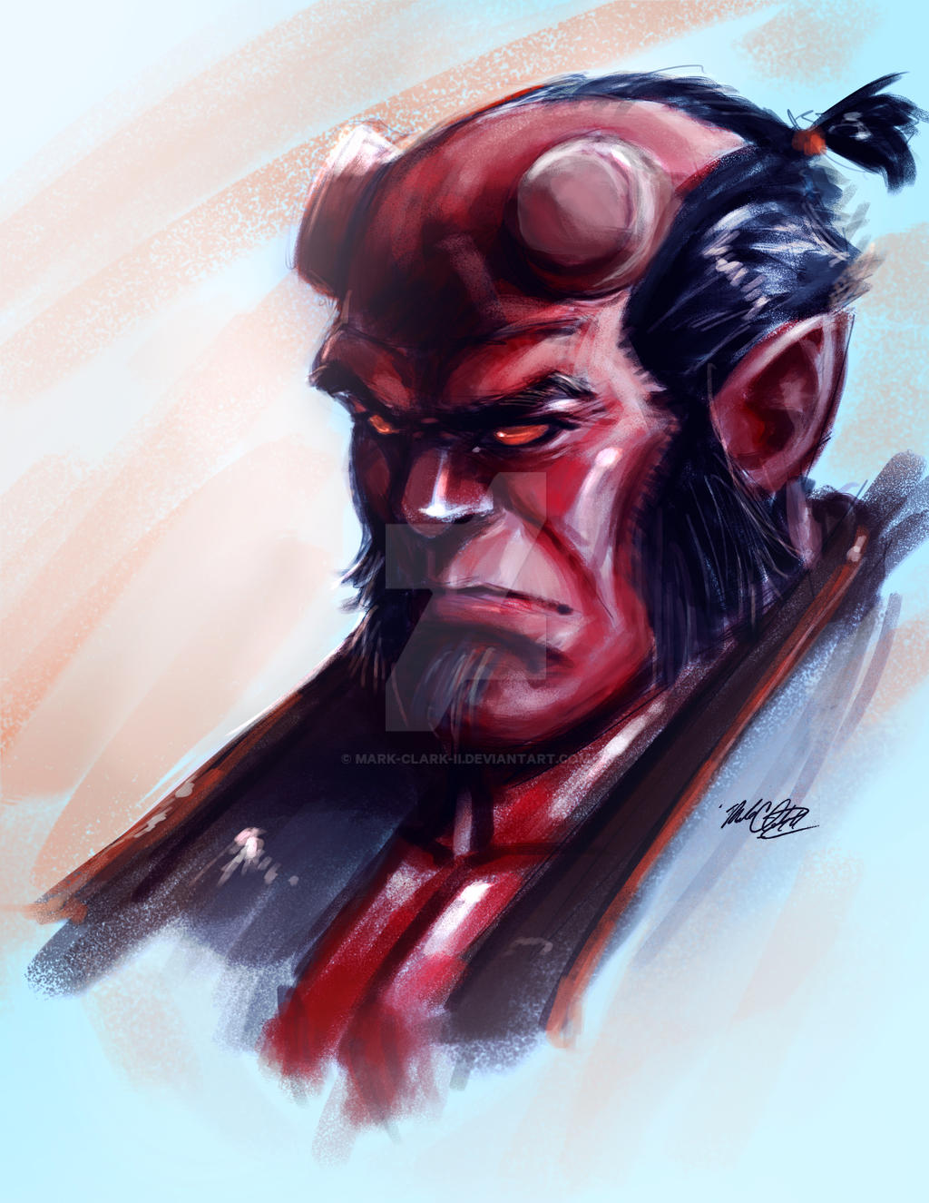 Hellboy by Mark-Clark-II