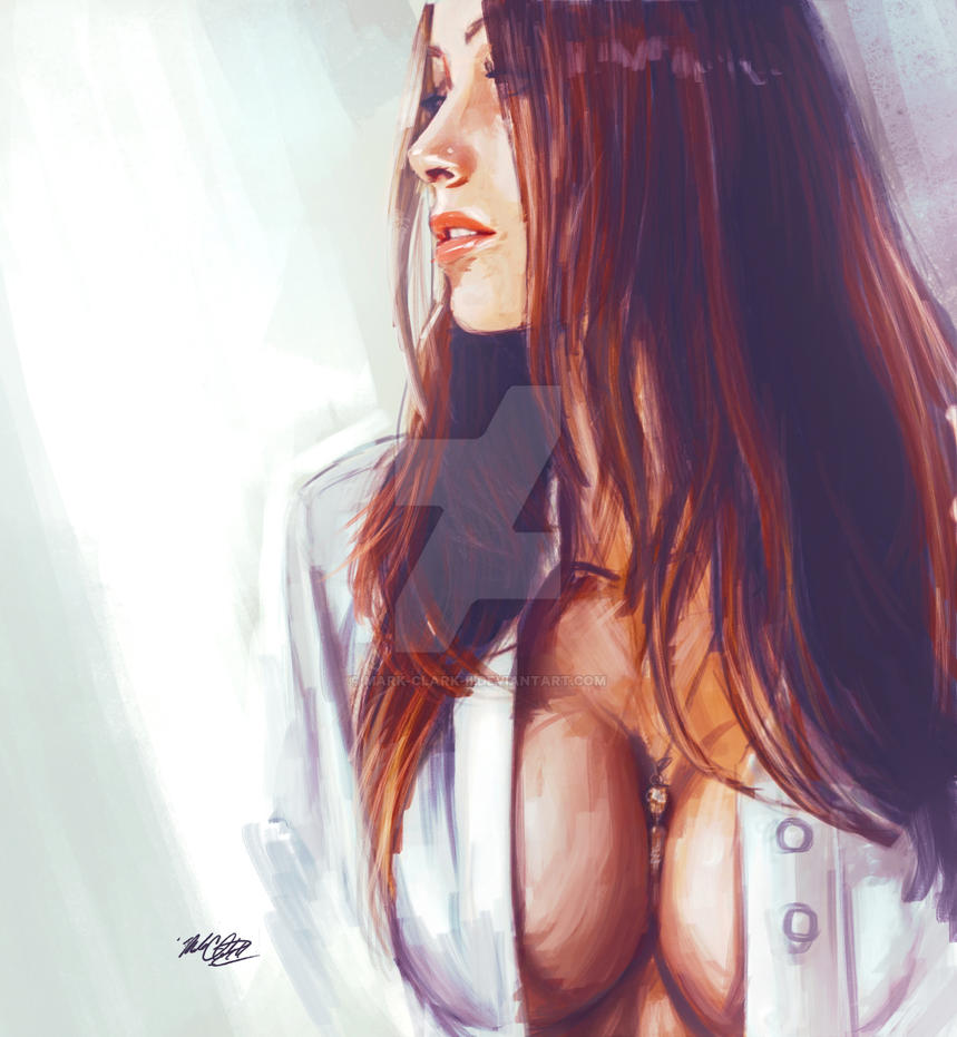 portrait painting by Mark-Clark-II
