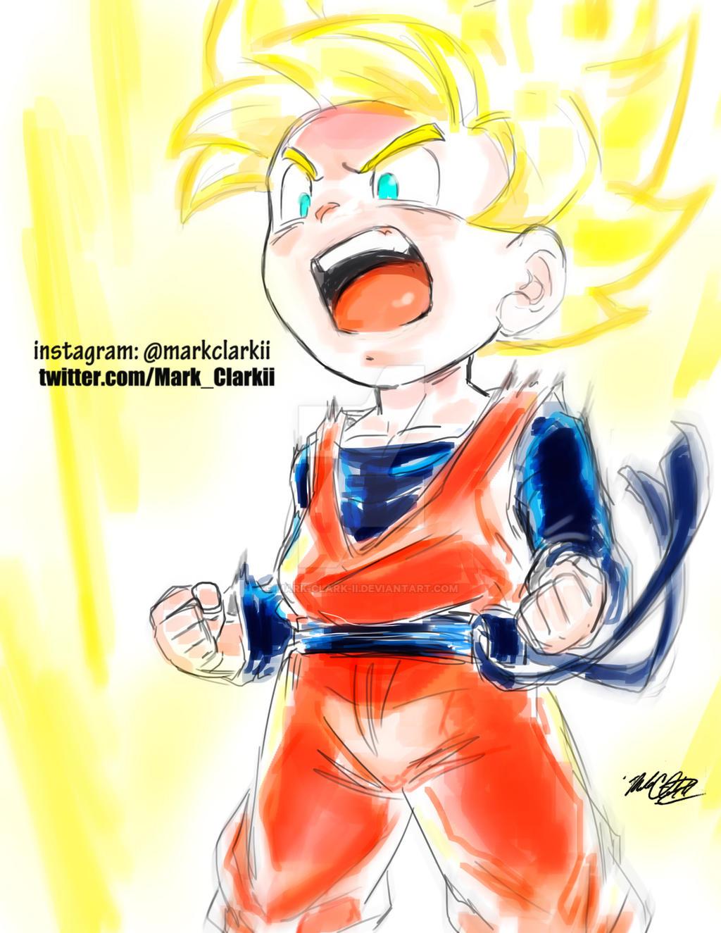 Goten Super Saiyan by Mark-Clark-II