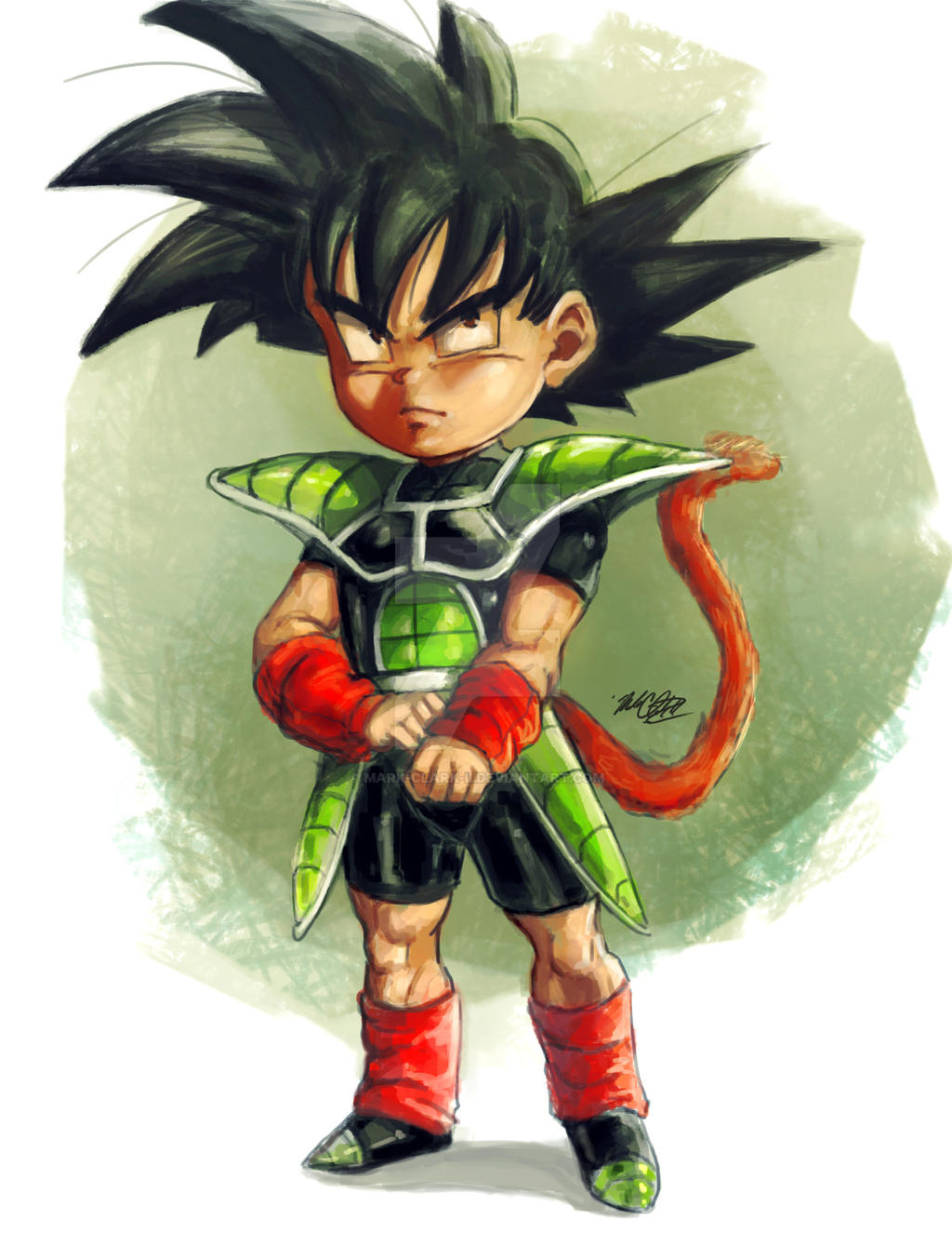 Kid bardock by Mark-Clark-II