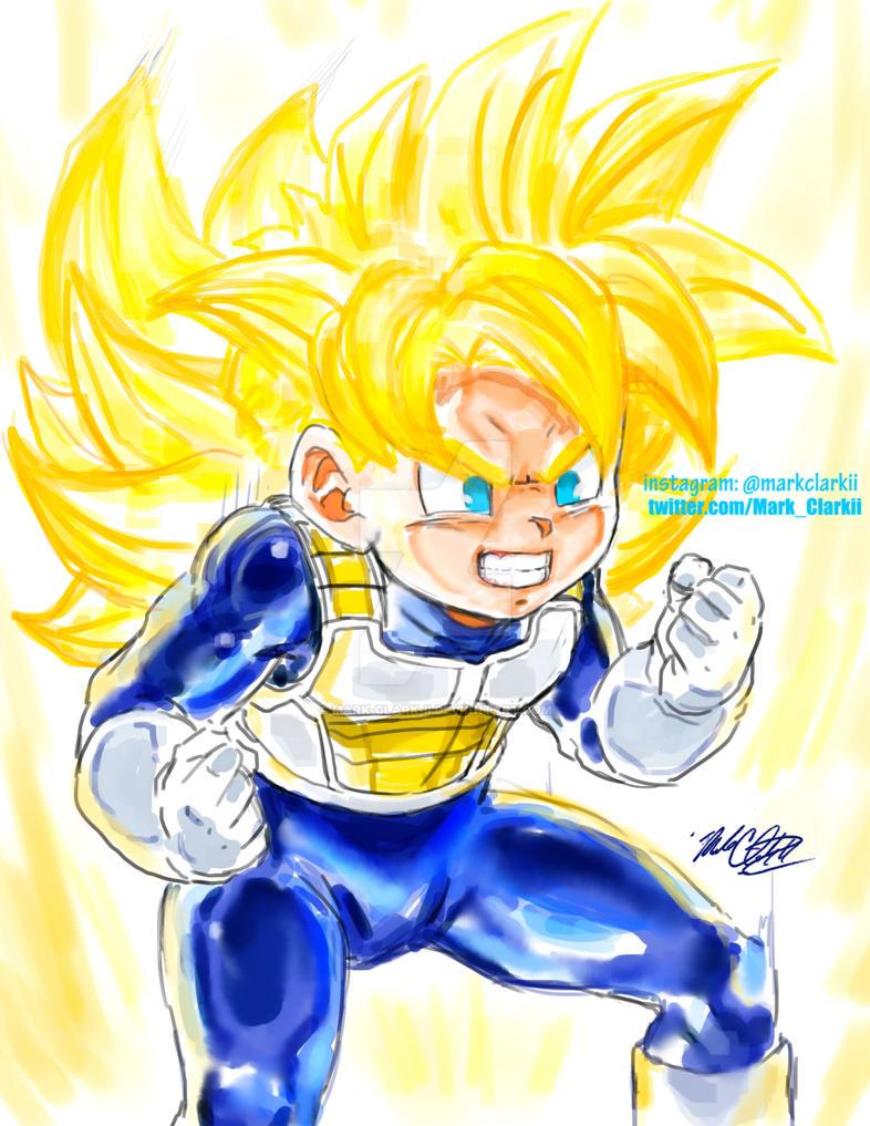 Teen Gohan Super Saiyan by Mark-Clark-II