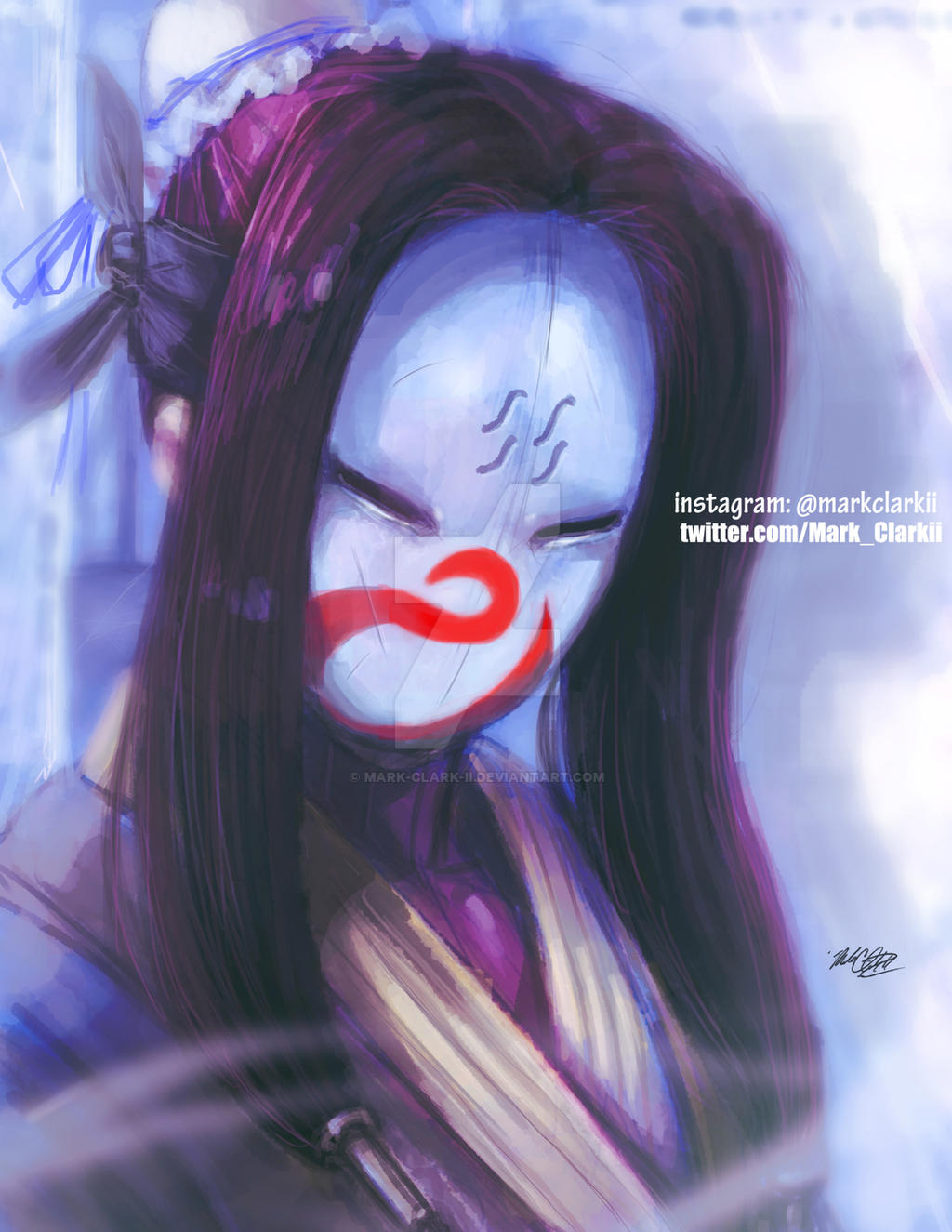 Haku with mask by Mark-Clark-II