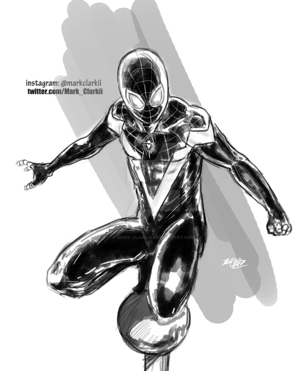 Spiderman-miles morales by Mark-Clark-II